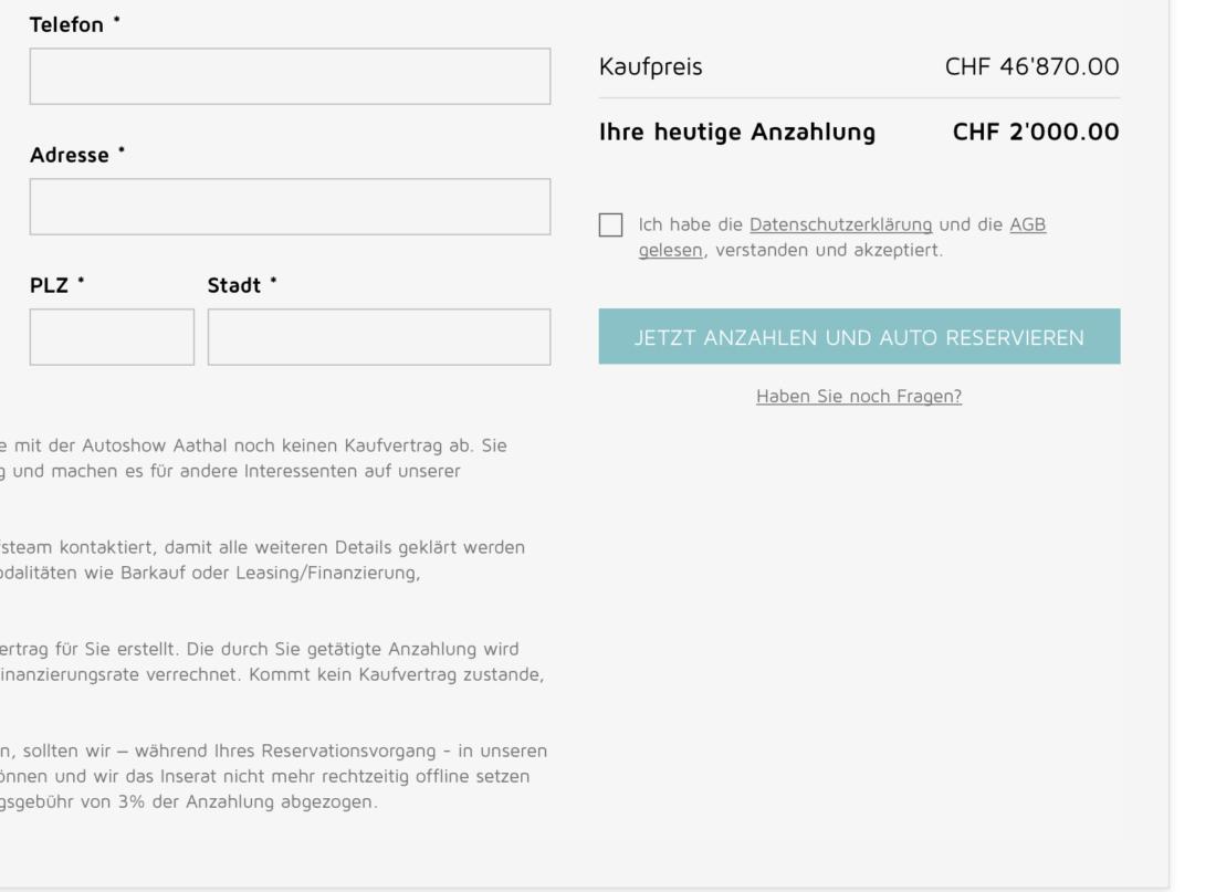 Online Shop - Auto online kaufen - Autolerch AG Rothrist 1