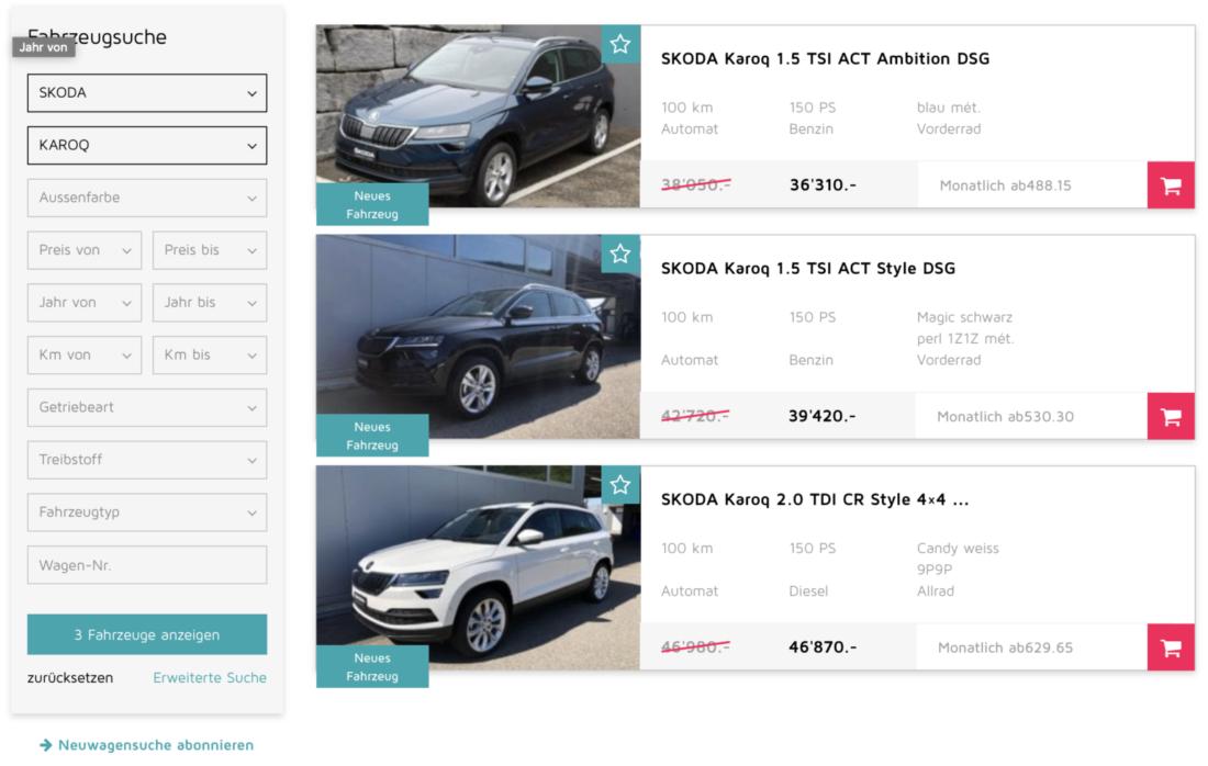 Online Shop - Auto online kaufen - Autolerch AG Rothrist 3