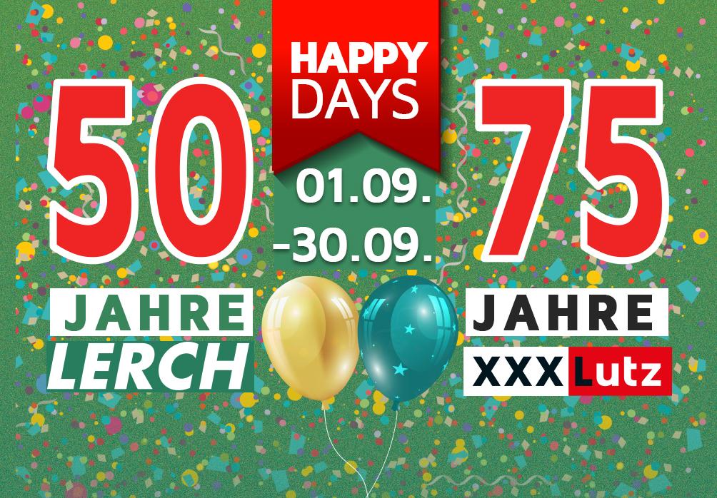 50 Jahre Lerch und 75 Jahre XXXLutz: Willkommen zu den Happy Days! - Autolerch AG Rothrist